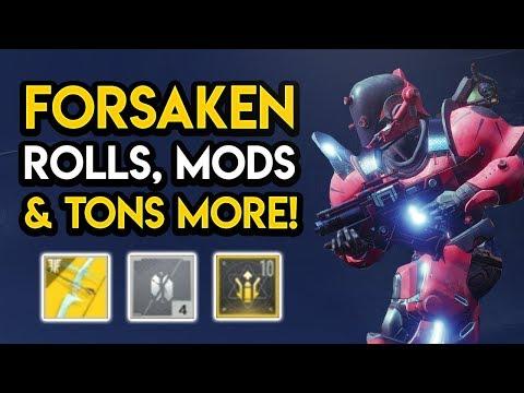 Destiny 2 - FORSAKEN GUIDE! New Mods, Random Rolls, Tier 10 Weapons, MORE! thumbnail