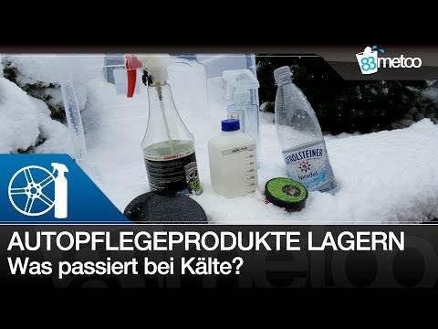 Autopflege Produkte lagern   Was passiert wenn Autopflegeprodukte zu kalt werden - Test im Schnee