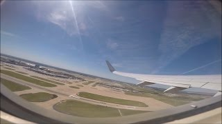 Sunny Takeoff from Dallas Ft Worth Intl' Airport   American Airlines Boeing 737-800