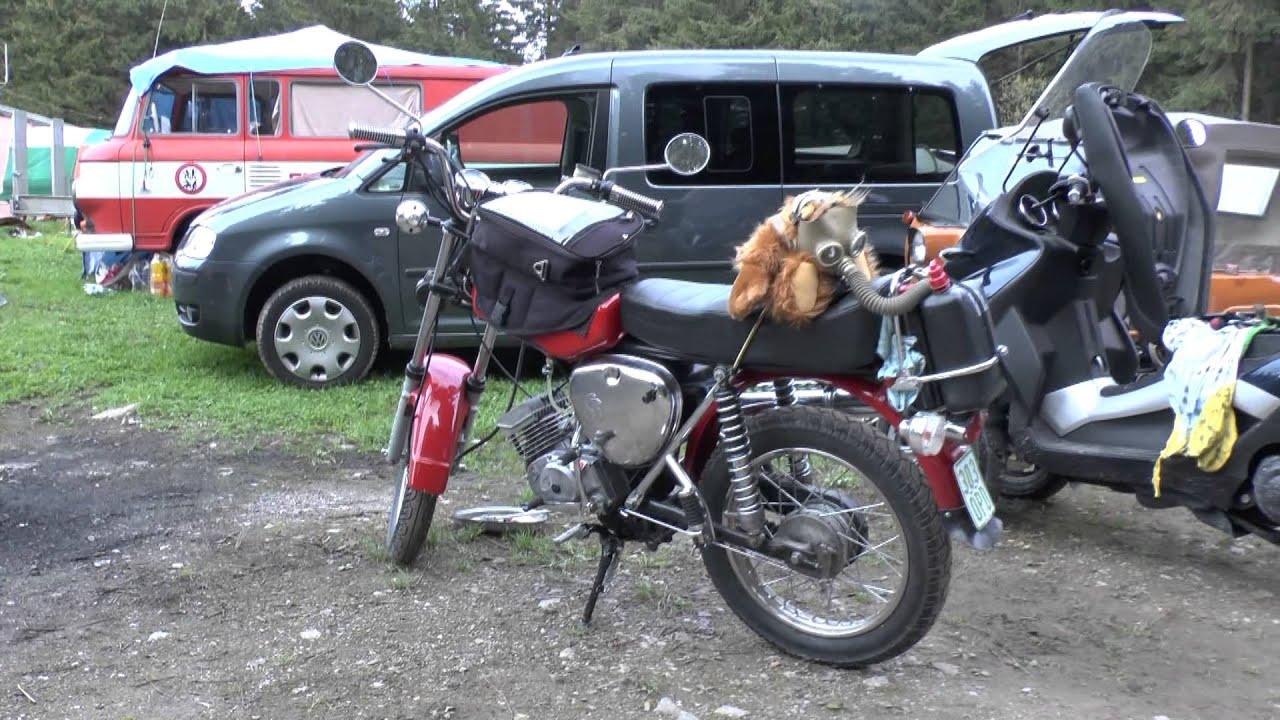 VIDEO: DDR IFA Simson AWO 425 T Stoye Oldtimer Gespann SUHL Stoye I SM ...
