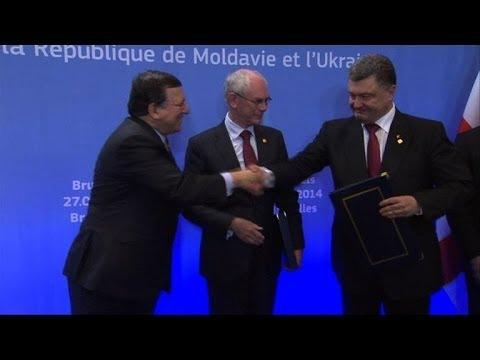 Ukraine seals EU deal that sparked revolution and crisis