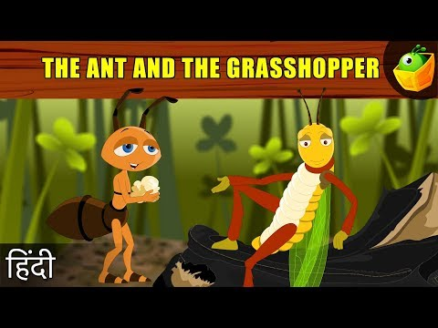 The Ant And Grasshopper - Aesop's Fables In Hindi - Animated cartoon Tales For Kids video