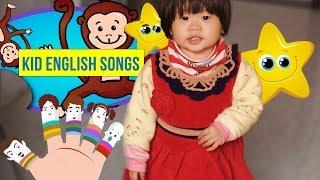 ♫ 500 bài hát thiếu nhi học Tiếng Anh hay nhất | 2 year old Annie singing English Songs ABC