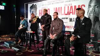 Full Jarrett Hurd n Jillian Williams Press Conference & Face Off