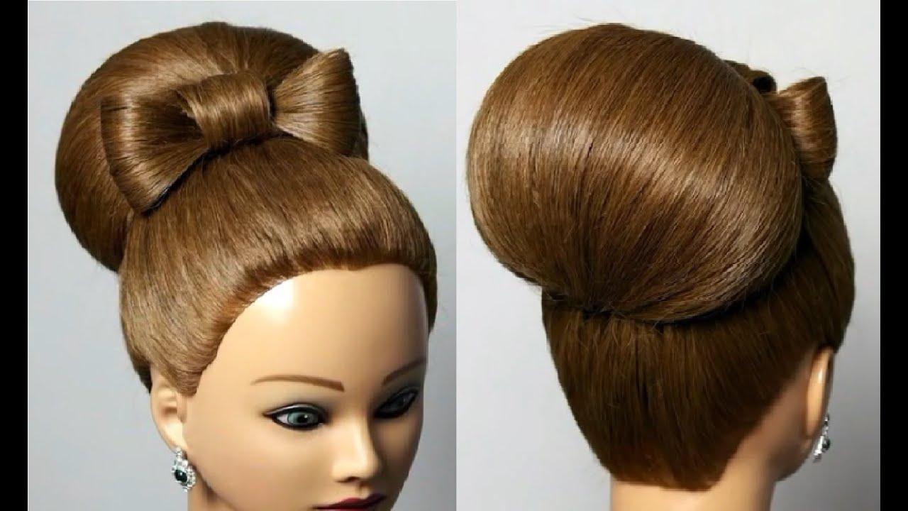 Прически для волос средней длины бабетта
