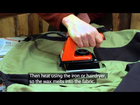 How to Wax Your G-1000 Garment