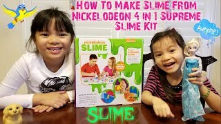 How To Make Slime From Nickelodeon 4 in 1 Supreme Slime Kit