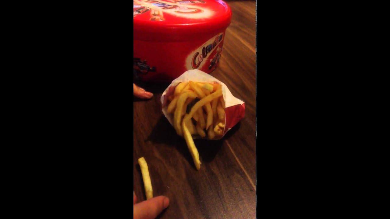 Caterpillar in KFC chips in Gorleston - YouTube