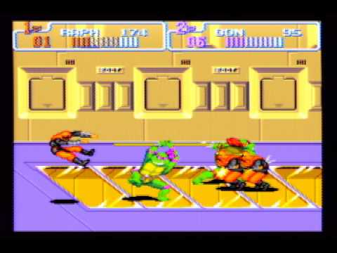 Misc Computer Games - Teenage Mutant Ninja Turtles 2 The Arcade Game - Scene 3