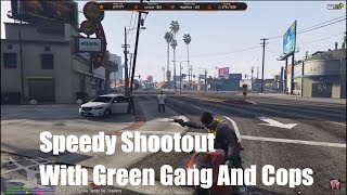 Speedy Shootout With Grove Gang And Police | Nopixel
