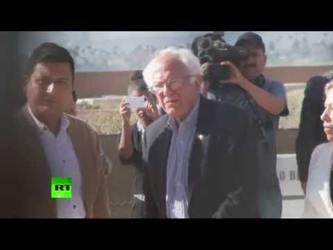 Friendship Park: Bernie Sanders tours meeting place for families separated by US, Mexico border
