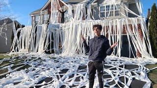 TOILET PAPER PRANK ON HOUSE!