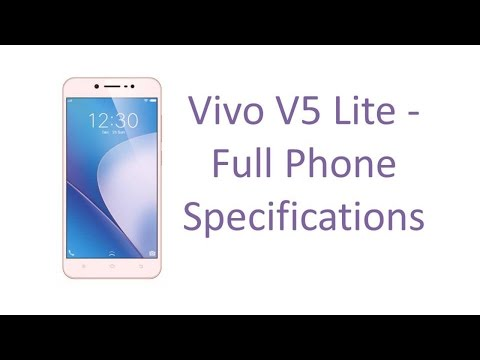 Vivo V5 Lite - Full Specifications, Features, Price, Specs and Reviews 2017 Update Video