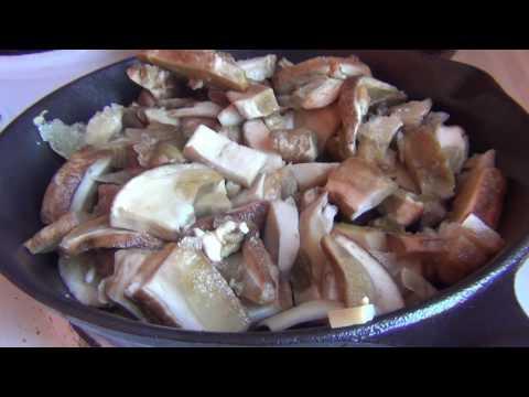 Замороженные белые грибы жаренные