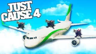 Weaponizing Passenger Planes With Rail Guns in Just Cause 4