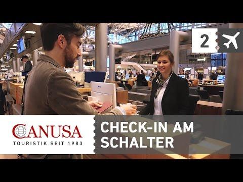 Check-In und Gepäckaufgabe am Flughafen! | CANUSA