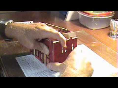 DIY How to Build Scale Model Railroad HO Building - DPM Front Street Part 3