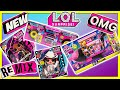 LOL Surprise Remix Hair Flip Dolls + Pets!  NEW LOL Surprise OMG Remix 4 In 1 Plane 50+ Surprises!
