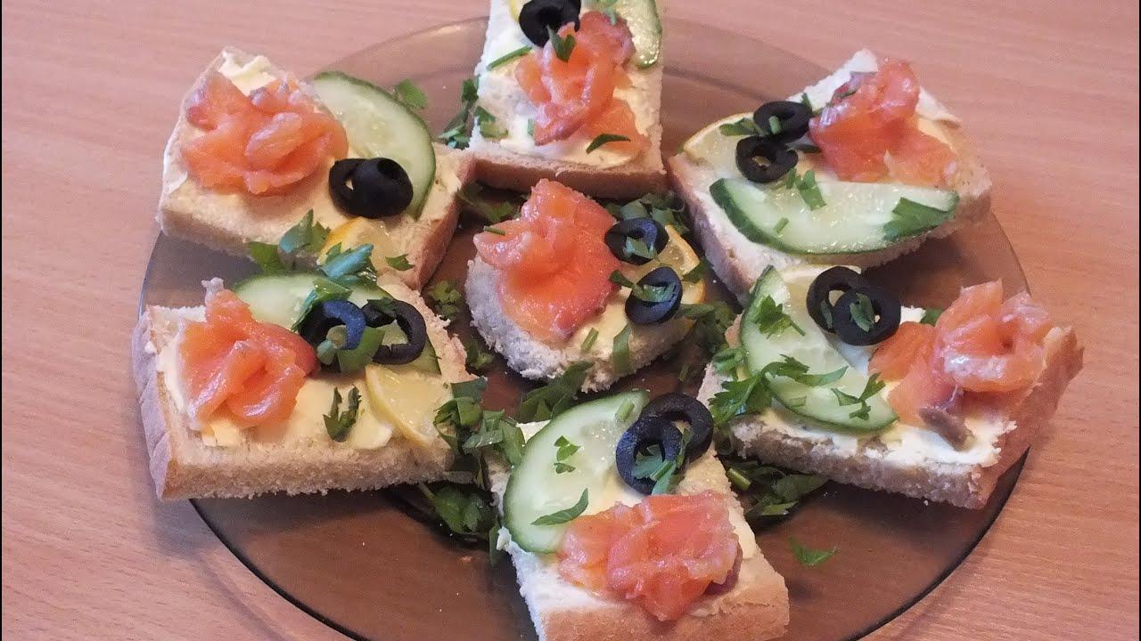 Приготовление бутербродов на праздничный стол в домашних условиях