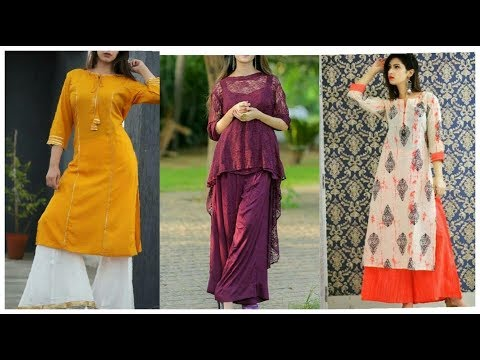 kurti with Lose Palazzo Designs !! Palazzo pants Suits Design's idea for Fastivals !!Palazzo Outfits