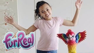 FurReal Rock-A-Too The Show Bird Unboxing and Playing with Riley Toys