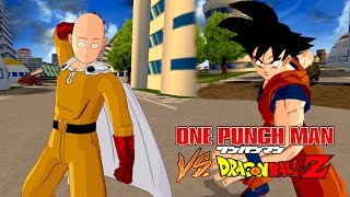 Saitama (One Punch Man) vs Goku | One Punch Man Meets Dragon Ball Z | DBZ Tenkaichi 3 (MOD)