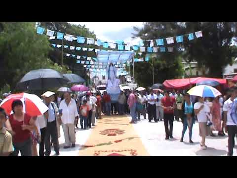 Chila de las Flores, Puebla, Procesión Virgen de la Asunción 2014 @GIA