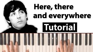 The Beatles Here, there and everywhere Piano tutorial chords and lyrics