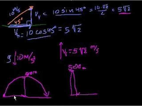 2 dimensional projectile motion (part 2)
