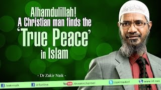 Alhamdulillah! A Christian man finds the true 'Peace' in Islam