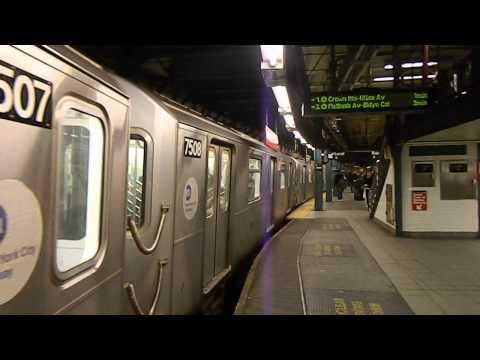 MTA New York City Subway Brooklyn Bridge-City Hall Bound R142A (6) Train @ 14th Street-Union Square