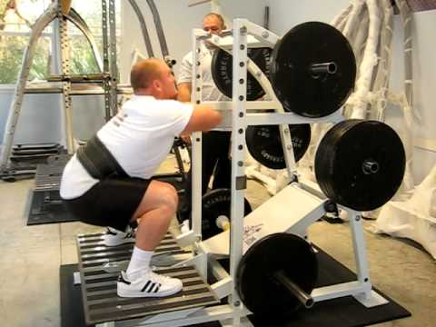 Short Heavy Band Squats
