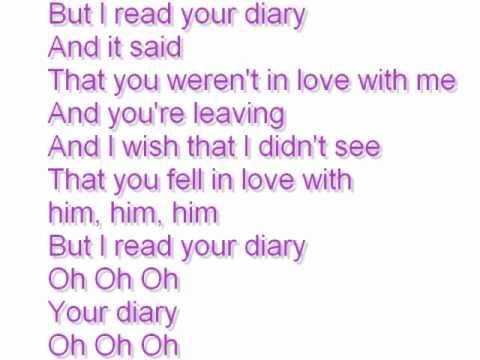 Diary lyrics by Tino Coury