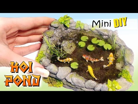 Miniature Koi Pond Tutorial // DIY Dolls/Dollhouse