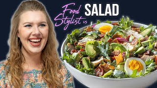How a Food Stylist Styles Panera Bread's Green Goddess Cobb Salad   Styling Tips and Tricks