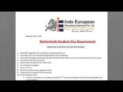 Study in Holland- Visa Training