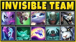 INVISIBLE TEAM COMP 2019 (ENTIRE TEAM STEALTH) THE MOST OP TEAM EVER - League of Legends