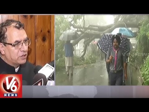 Heavy Rain Continues in Himachal Pradesh | Roads Closed Due To Rain | V6 News