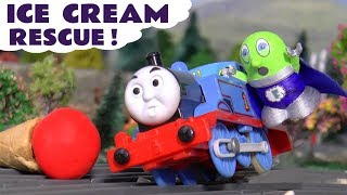 Funny Funlings Super Funling and Thomas The Train Play Doh Ice Cream Rescue TT4U