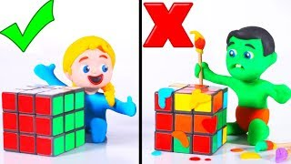 Kids Playing With A Rubik Cube ❤ Cartoons For Kids