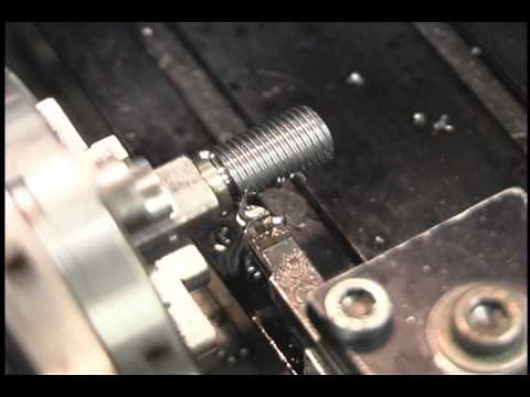 Tryally making threads with Sherline lathe