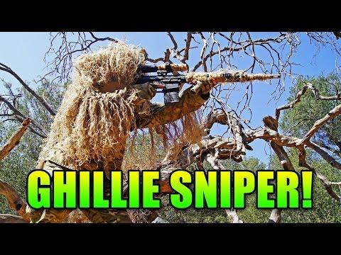 Ghillie Suit PolarStar SR-25 Sniper | Airsoft Gameplay