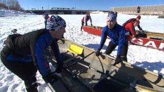 Rick Mercer goes ice canoeing