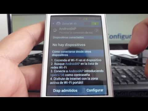 como compartir internet del celular al pc samsung Galaxy Young S6310 español Full HD