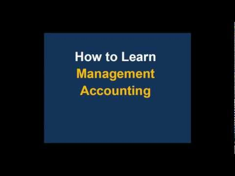 Tips on how to Learn Management Accounting
