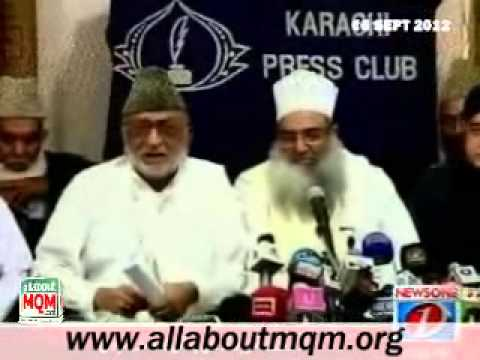 Members of Muttahida Bainul Muslimeen forum talk to media at Karachi press club