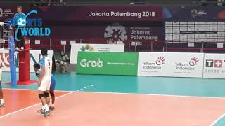Pakistan Vs India Volleyball Match Asian Games Jakarta 2018
