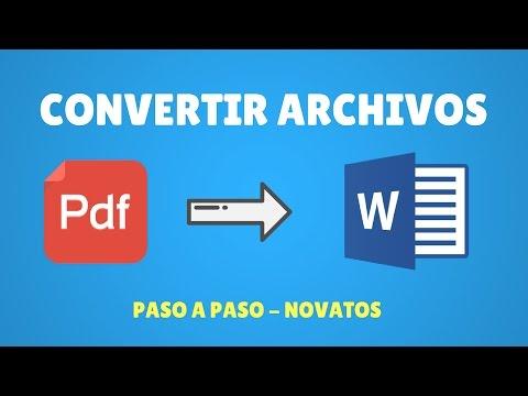Cómo Convertir Pdf a Word 2017 NOVATOS Y SIN PROGRAMAS !!