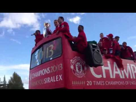Manchester United Victory Parade 2013. Thank You Sir Alex. At Old trafford and Deansgate