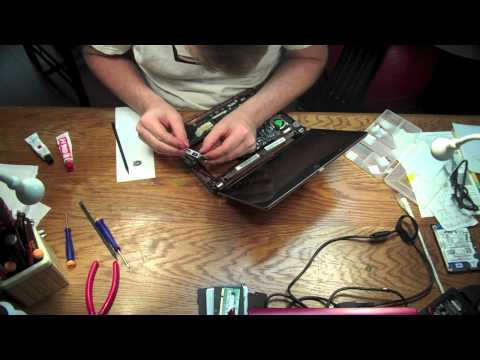KAV60 Netbook Disassembly and Power Jack Repair